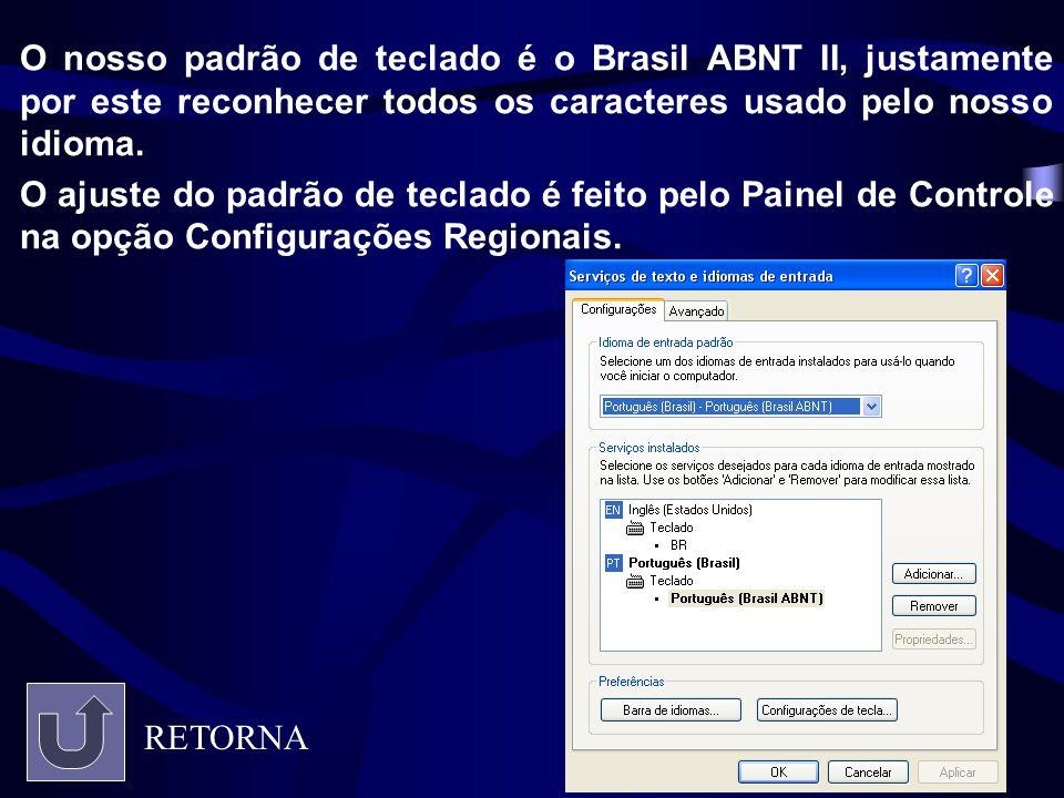 O nosso padrão de teclado é o Brasil ABNT II, justamente por este reconhecer todos os caracteres usado pelo nosso idioma.