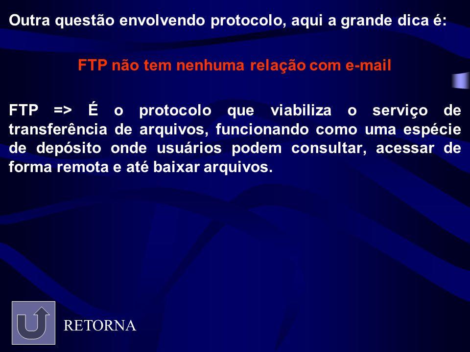 FTP não tem nenhuma relação com e-mail
