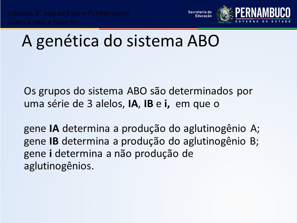 A genética do sistema ABO