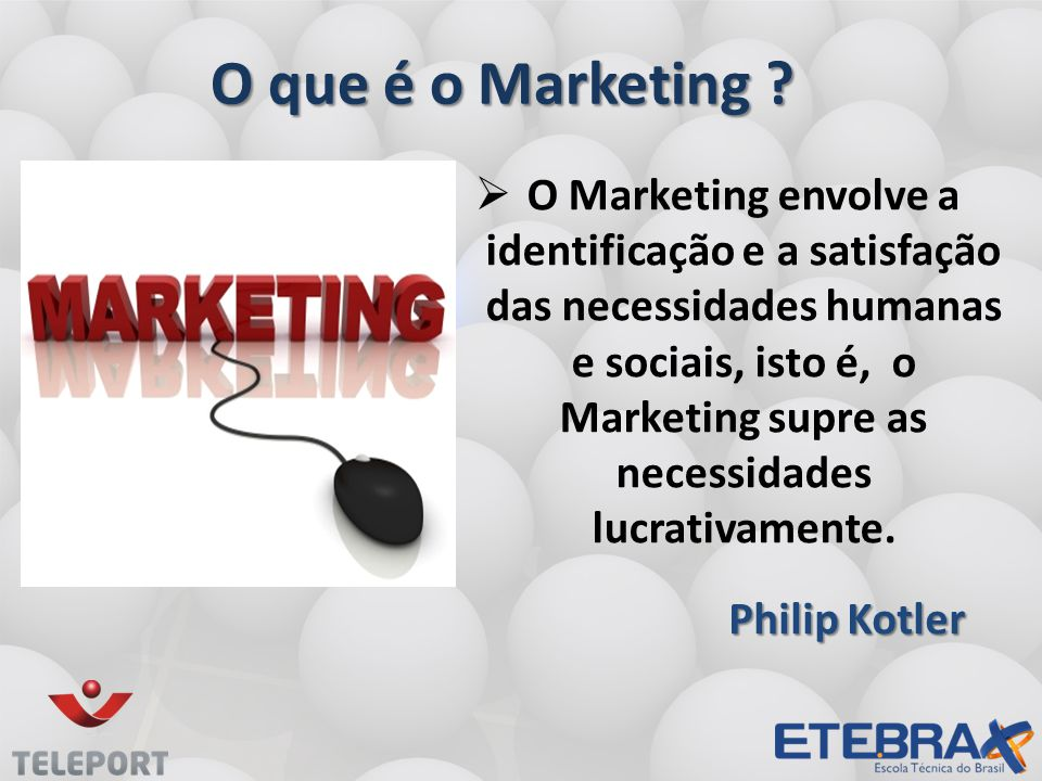 O que é o Marketing