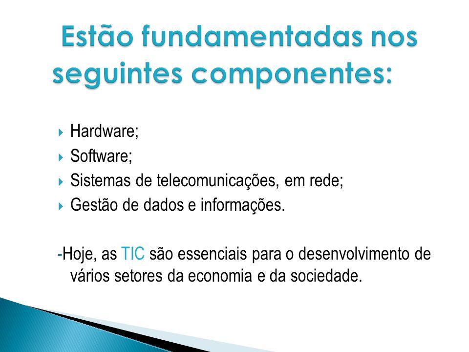 Estão fundamentadas nos seguintes componentes: