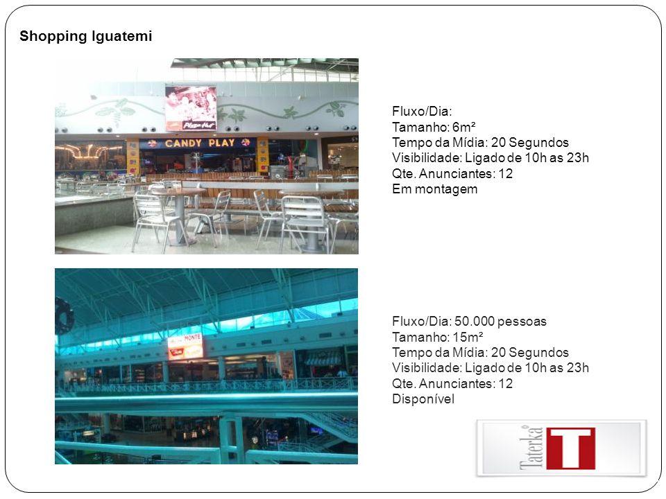 Shopping Iguatemi Fluxo/Dia: Tamanho: 6m² Tempo da Mídia: 20 Segundos