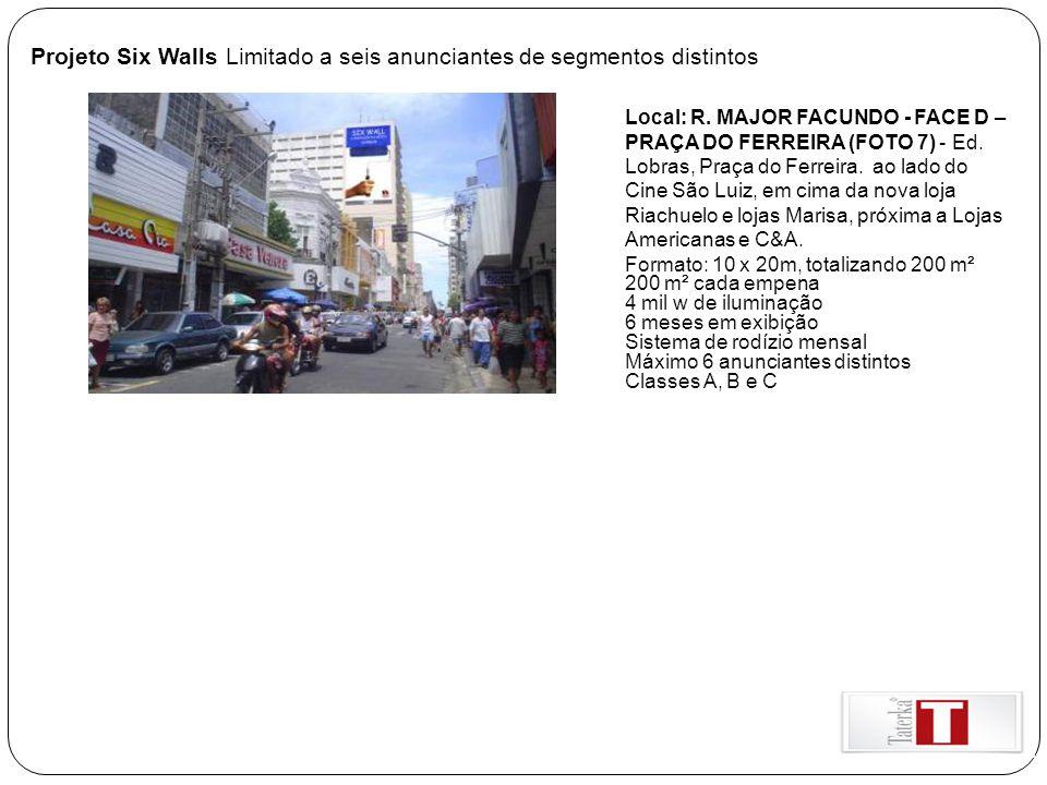Projeto Six Walls Limitado a seis anunciantes de segmentos distintos