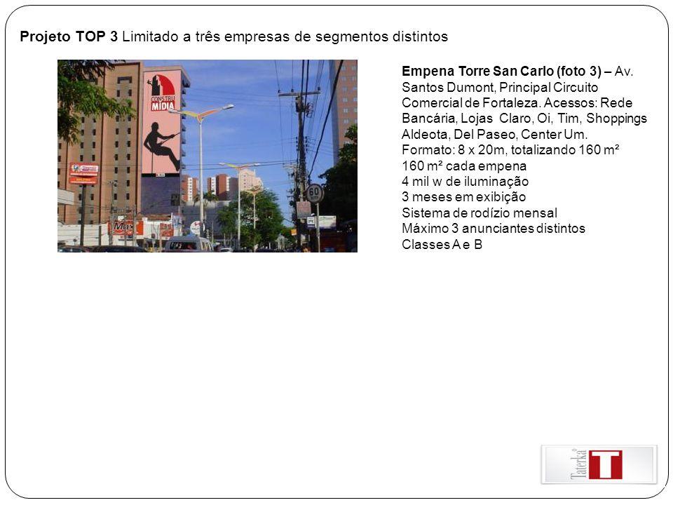 Projeto TOP 3 Limitado a três empresas de segmentos distintos
