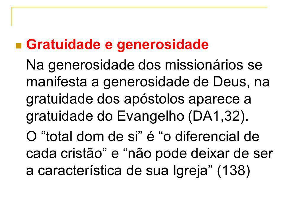 Gratuidade e generosidade