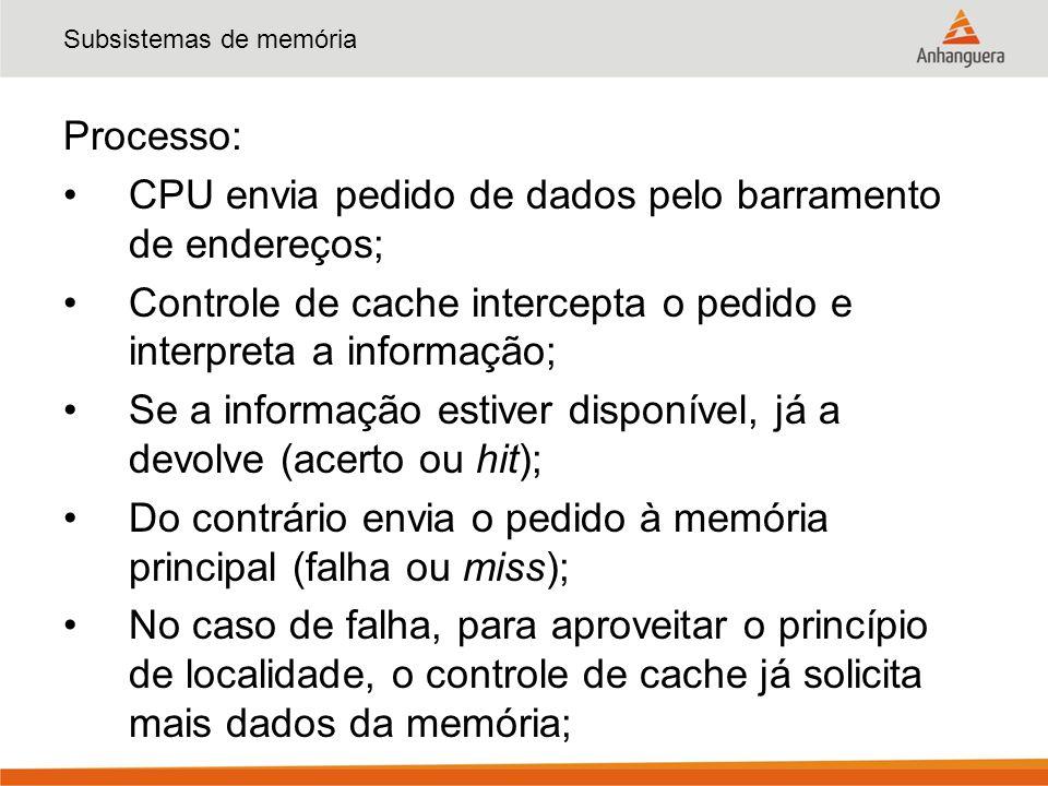 Subsistemas de memória