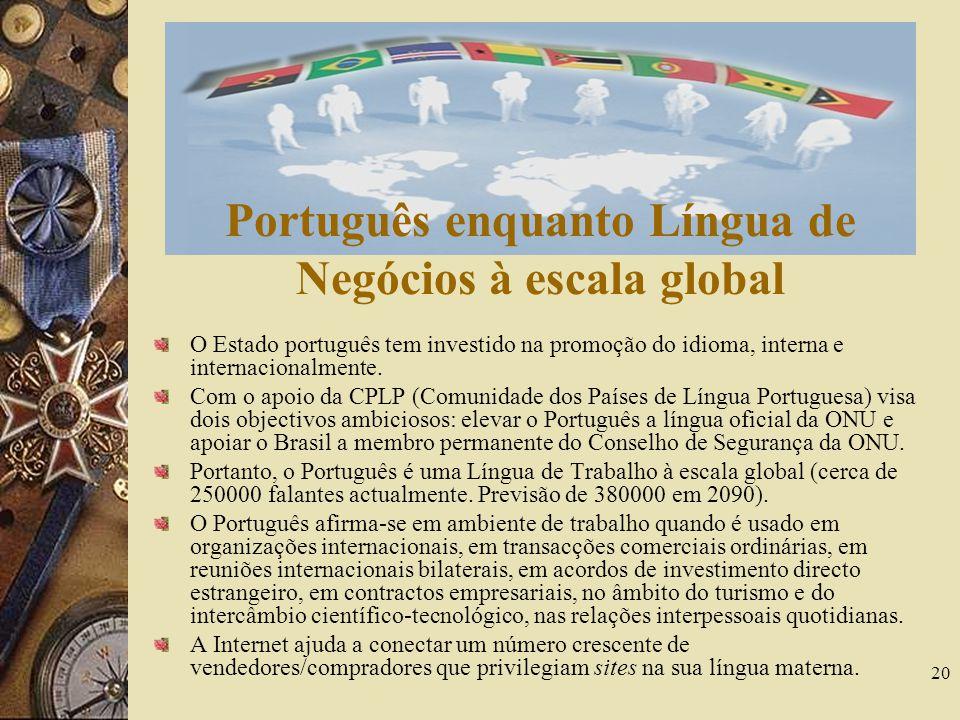 Português enquanto Língua de Negócios à escala global