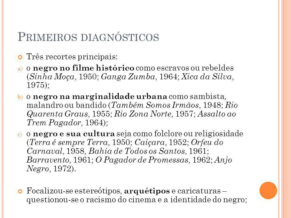 Primeiros diagnósticos