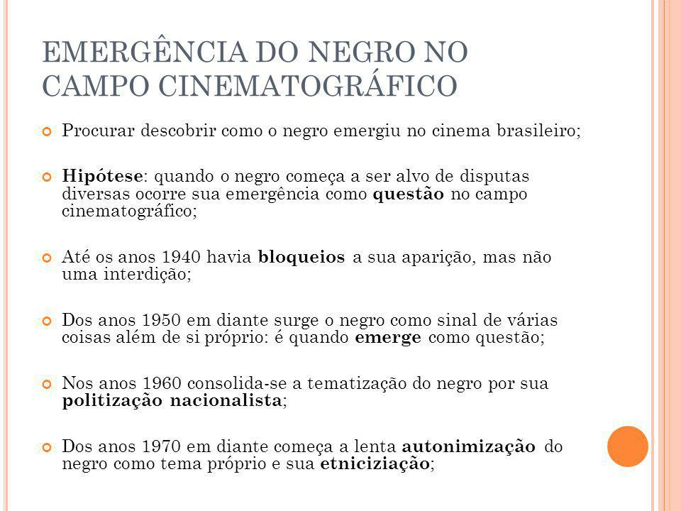 EMERGÊNCIA DO NEGRO NO CAMPO CINEMATOGRÁFICO