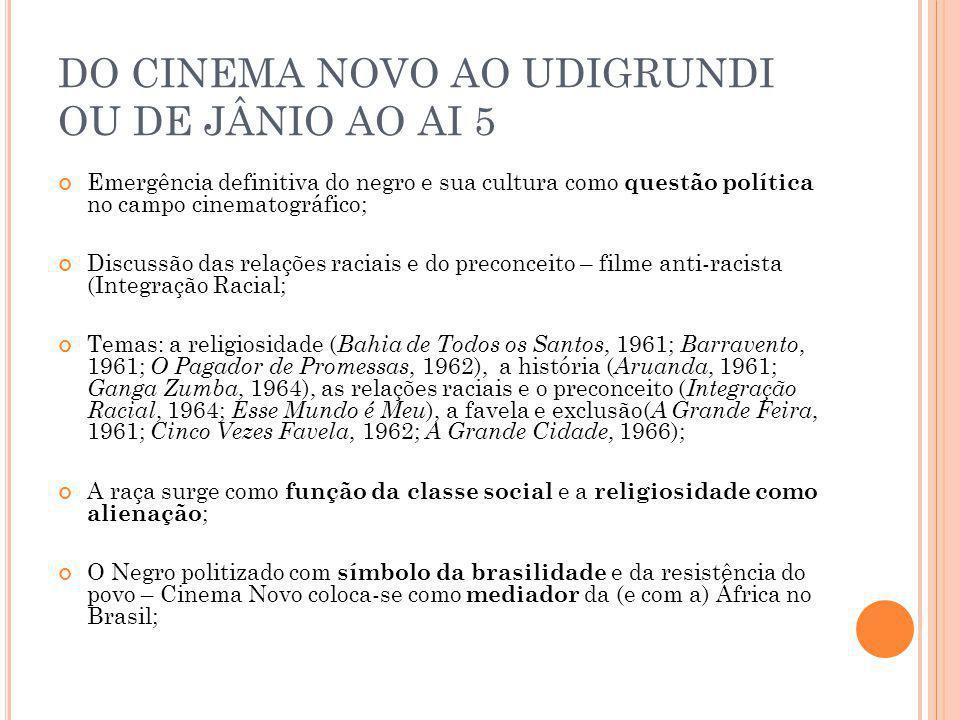 DO CINEMA NOVO AO UDIGRUNDI OU DE JÂNIO AO AI 5