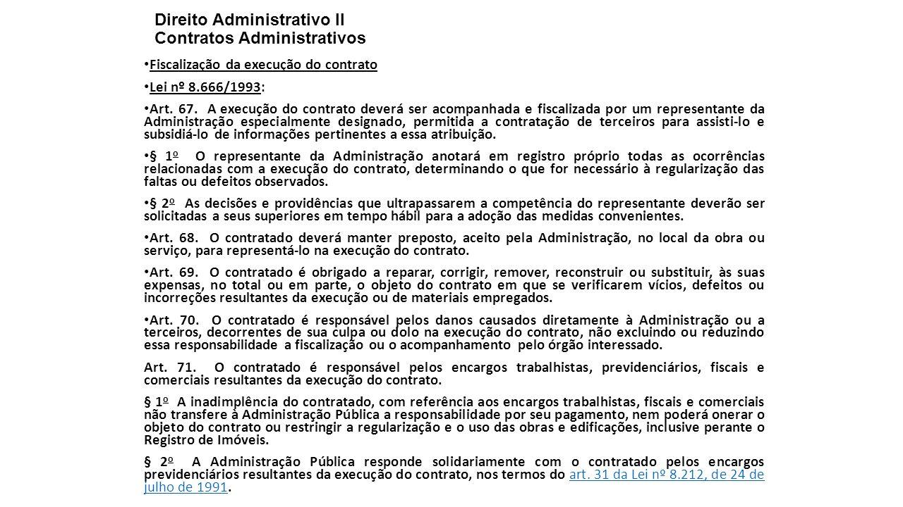 Direito Administrativo II Contratos Administrativos