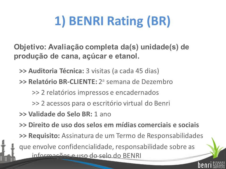 1) BENRI Rating (BR) Objetivo: Avaliação completa da(s) unidade(s) de