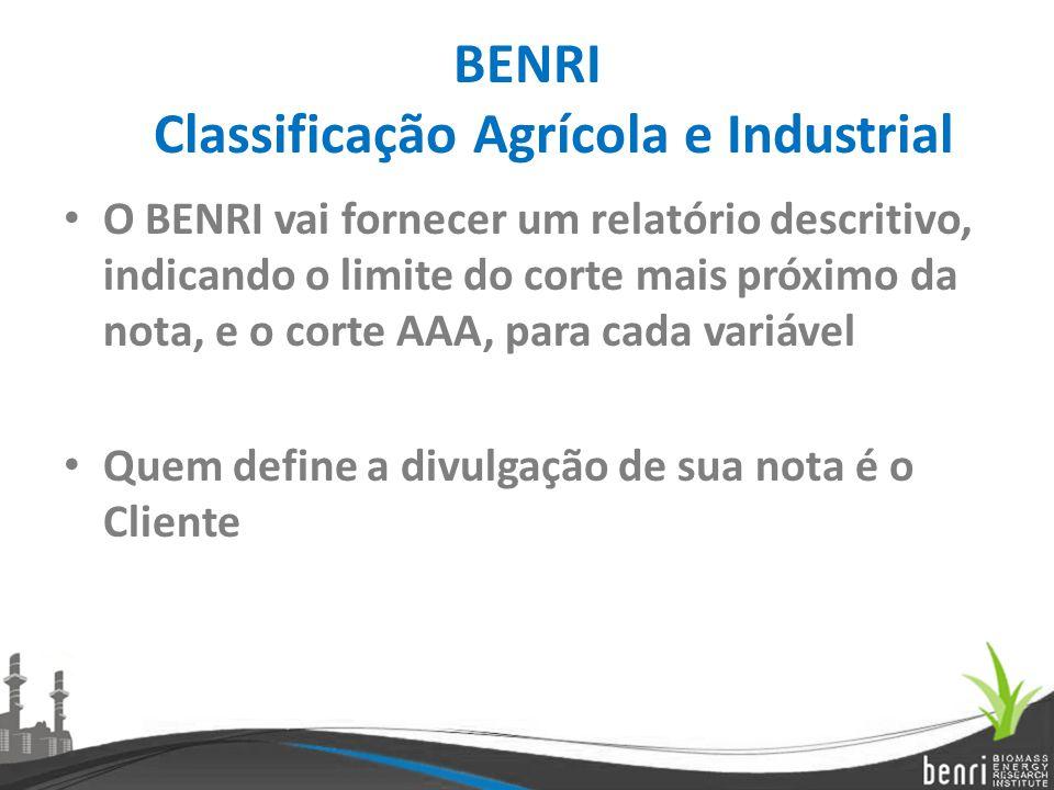 BENRI Classificação Agrícola e Industrial