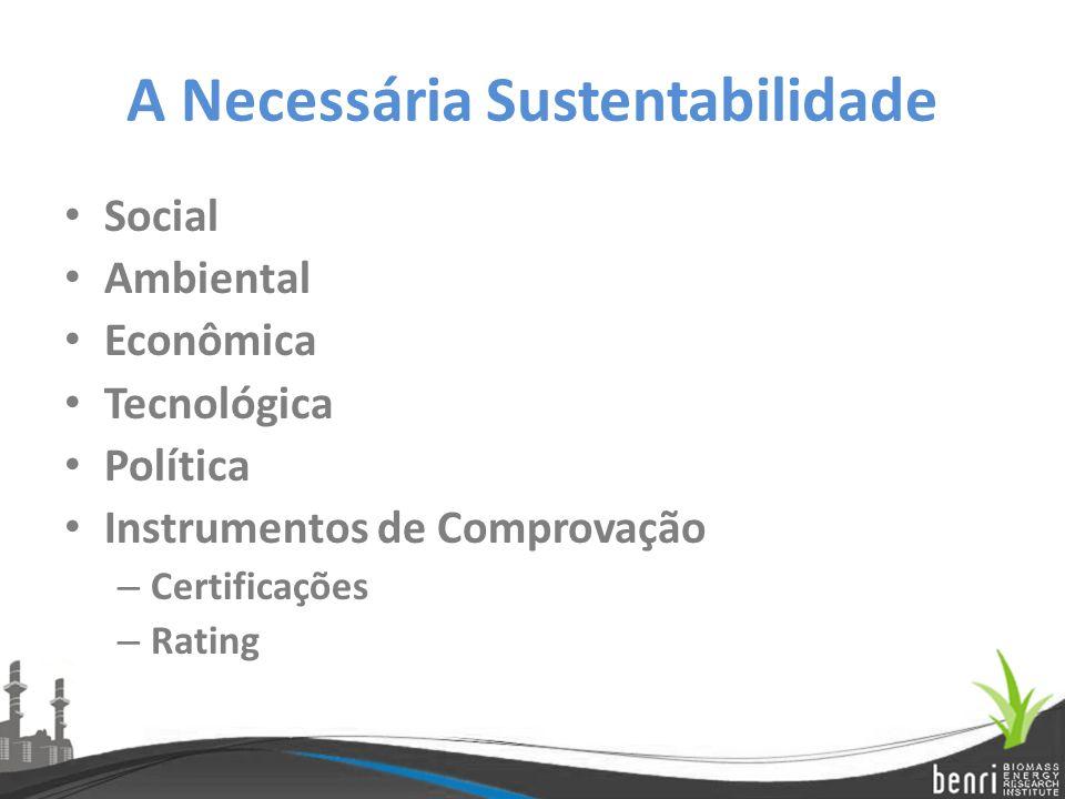 A Necessária Sustentabilidade