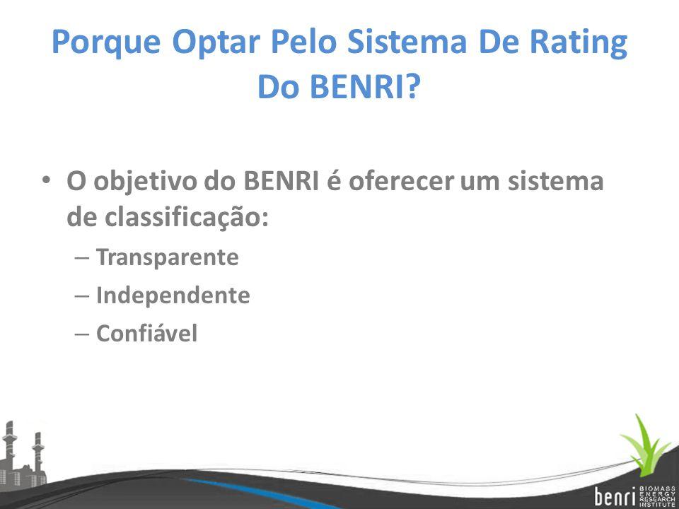 Porque Optar Pelo Sistema De Rating Do BENRI