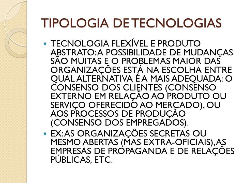TIPOLOGIA DE TECNOLOGIAS