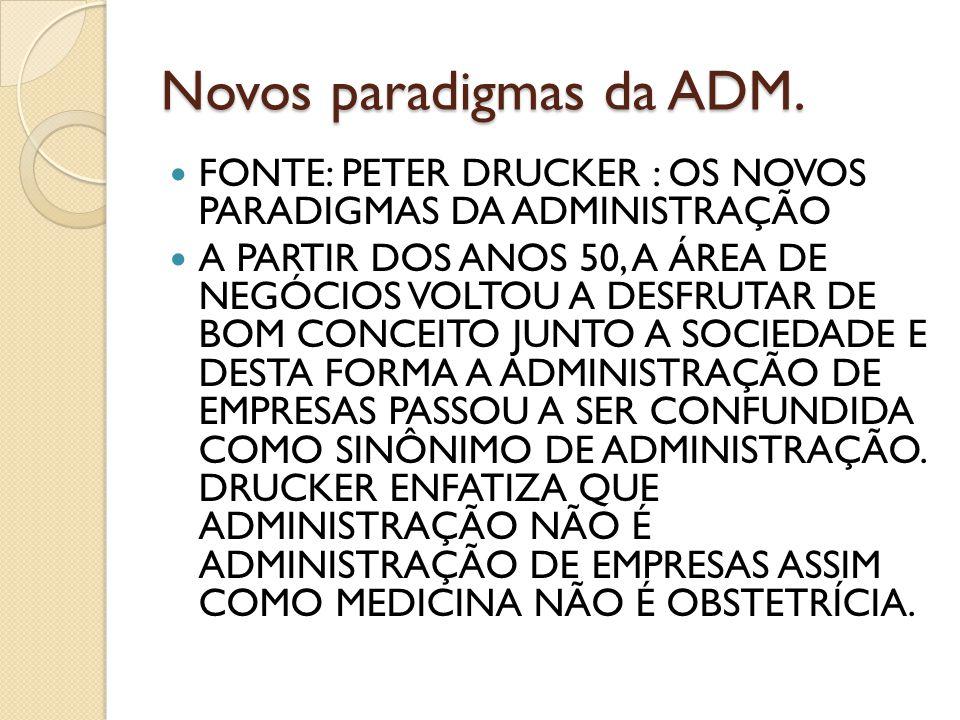 Novos paradigmas da ADM.