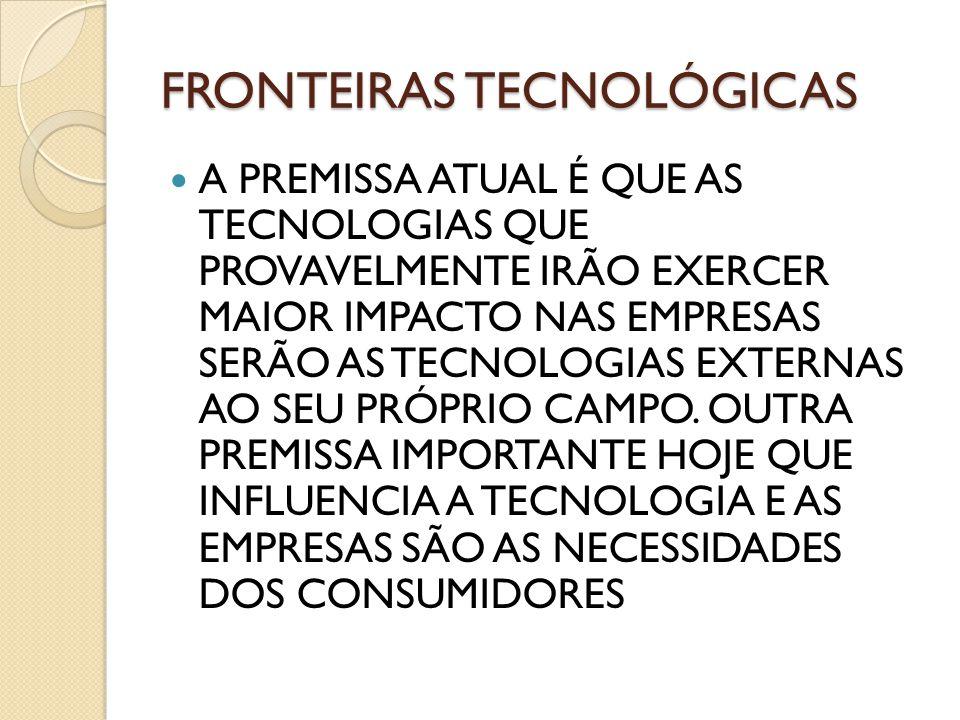 fronteiras tecnológicas