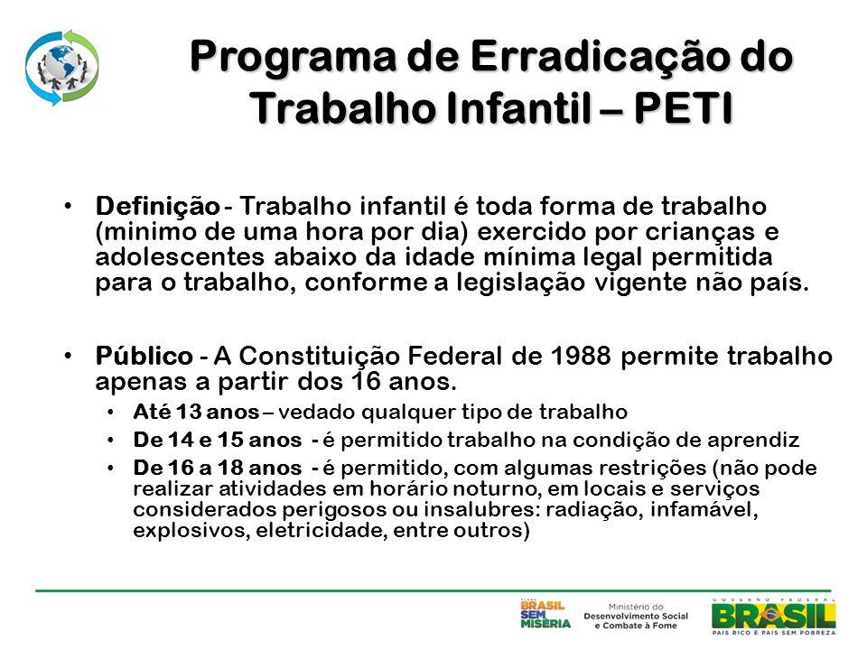 Programa de Erradicação do Trabalho Infantil – PETI