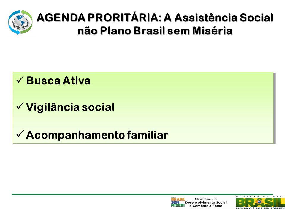 AGENDA PRORITÁRIA: A Assistência Social não Plano Brasil sem Miséria