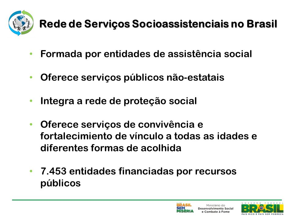 Rede de Serviços Socioassistenciais no Brasil