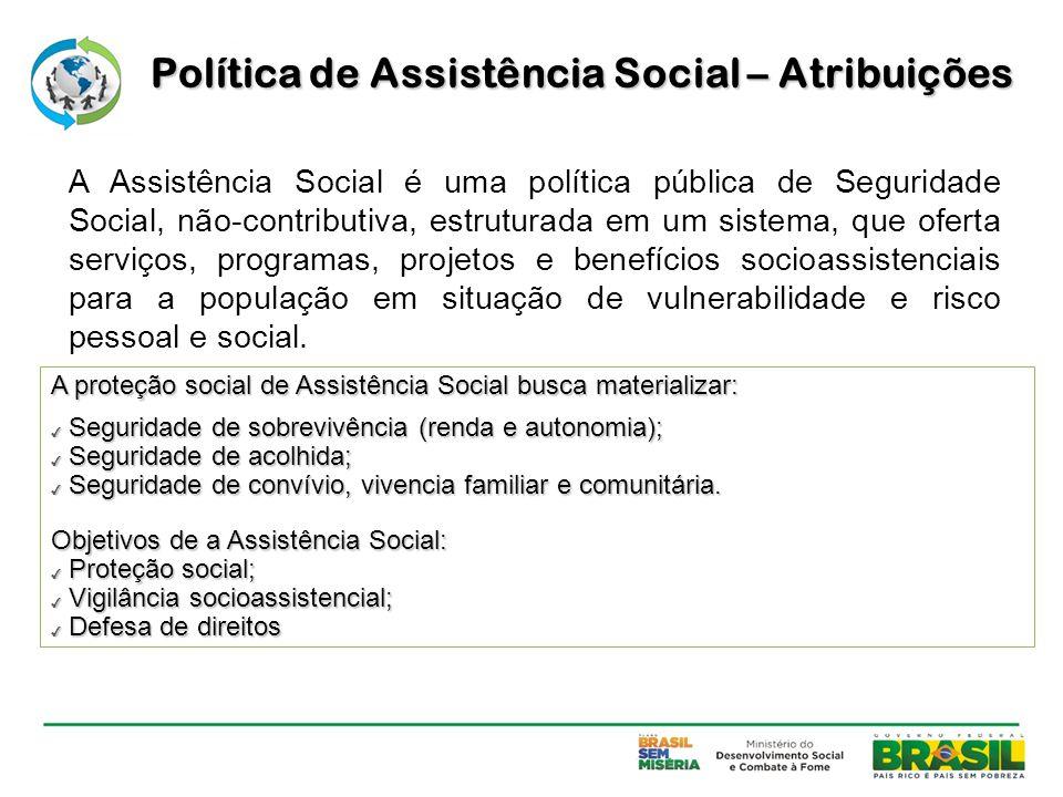 Política de Assistência Social – Atribuições