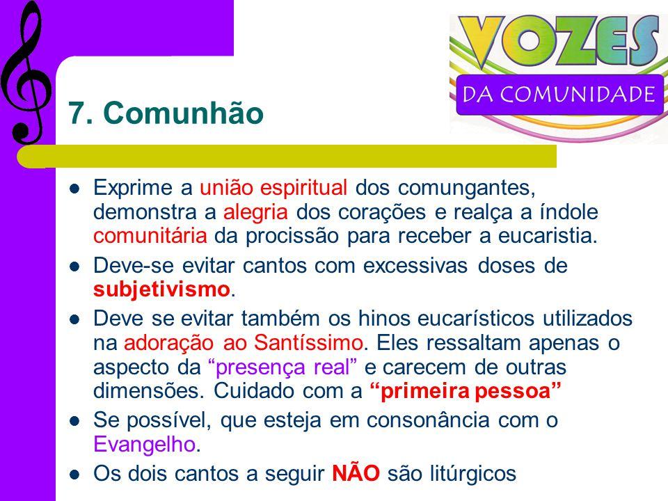 7. Comunhão