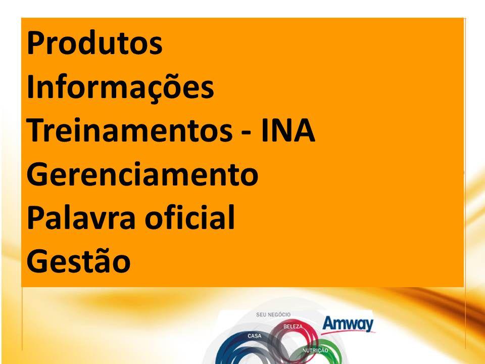 Produtos Informações Treinamentos - INA Gerenciamento Palavra oficial