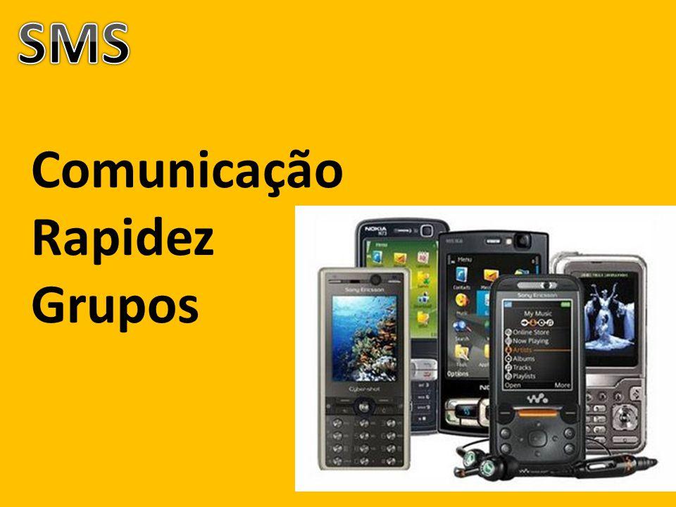 SMS Comunicação Rapidez Grupos