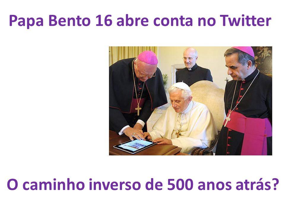 Papa Bento 16 abre conta no Twitter
