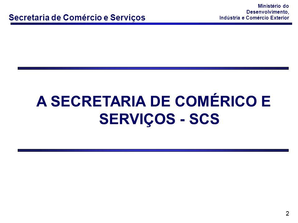 A SECRETARIA DE COMÉRICO E SERVIÇOS - SCS