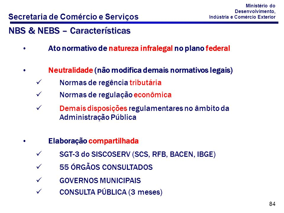 NBS & NEBS – Características