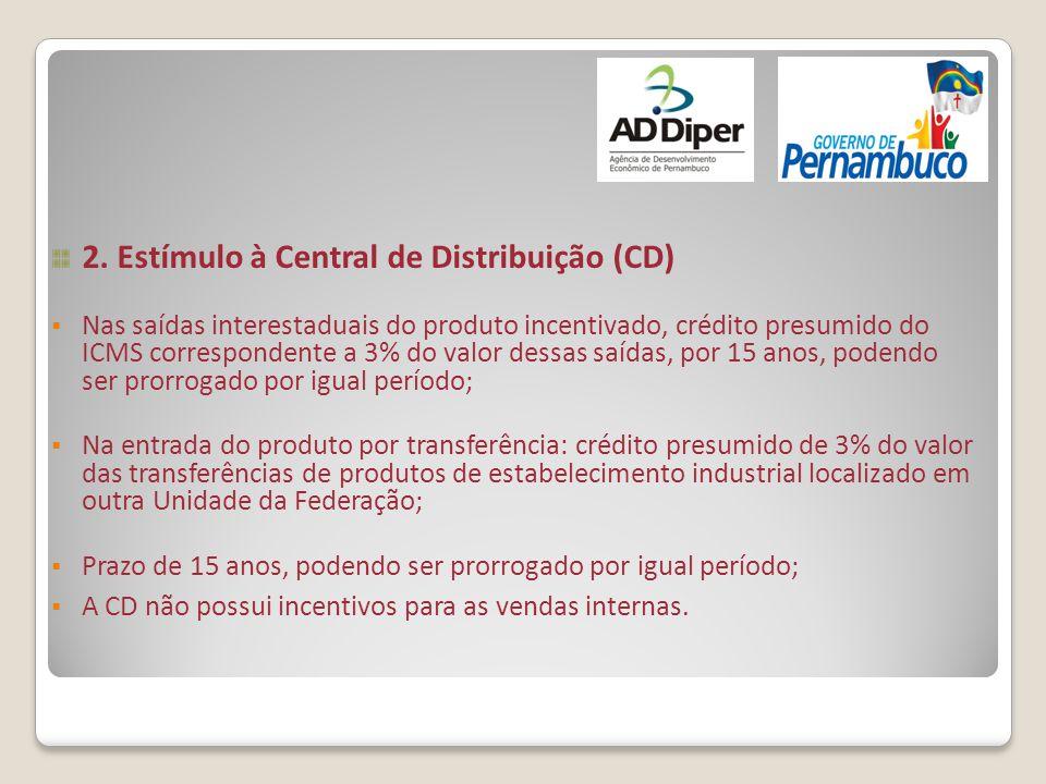 2. Estímulo à Central de Distribuição (CD)