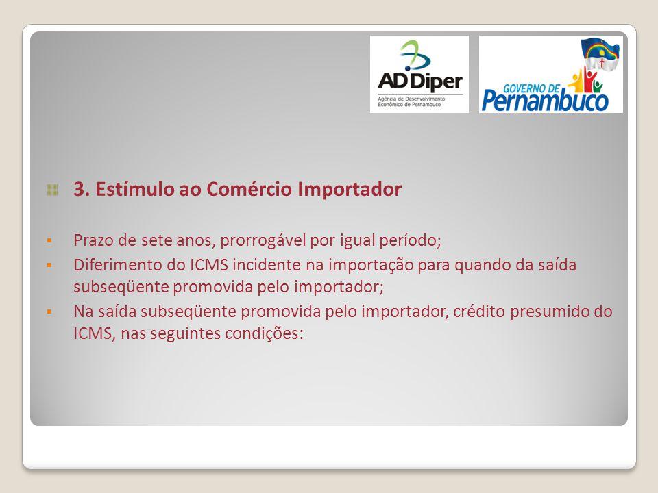 3. Estímulo ao Comércio Importador