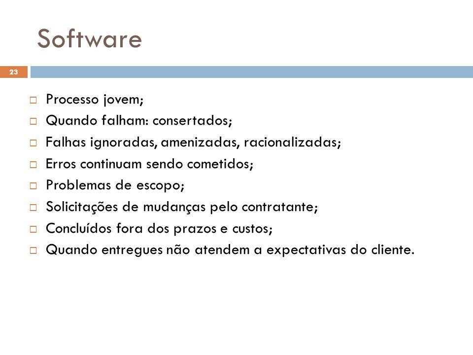 Software Processo jovem; Quando falham: consertados;