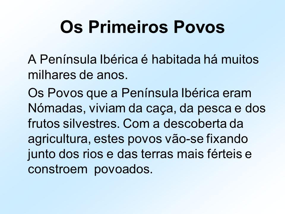 Os Primeiros Povos A Península Ibérica é habitada há muitos milhares de anos.