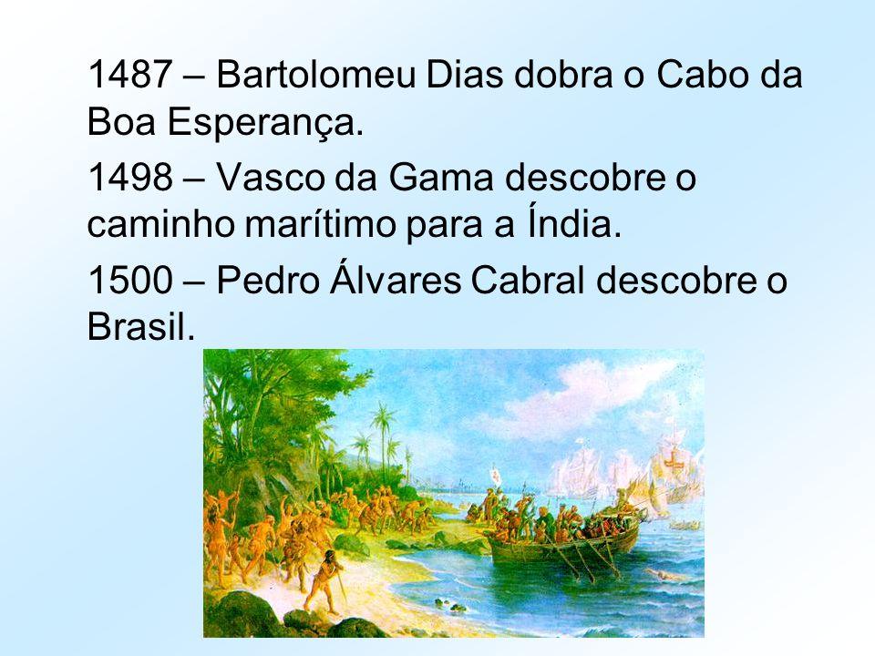 1487 – Bartolomeu Dias dobra o Cabo da Boa Esperança.