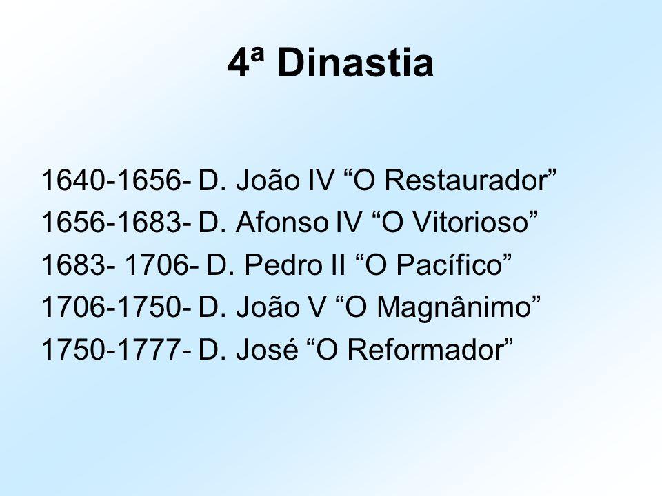 4ª Dinastia 1640-1656- D. João IV O Restaurador