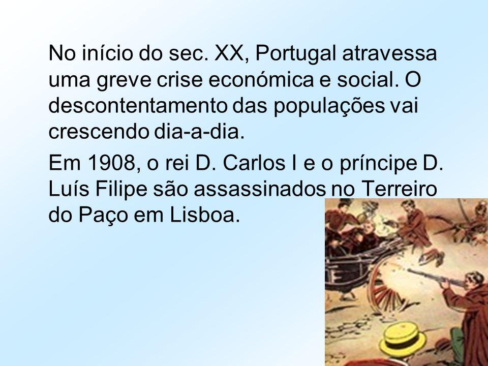 No início do sec. XX, Portugal atravessa uma greve crise económica e social. O descontentamento das populações vai crescendo dia-a-dia.