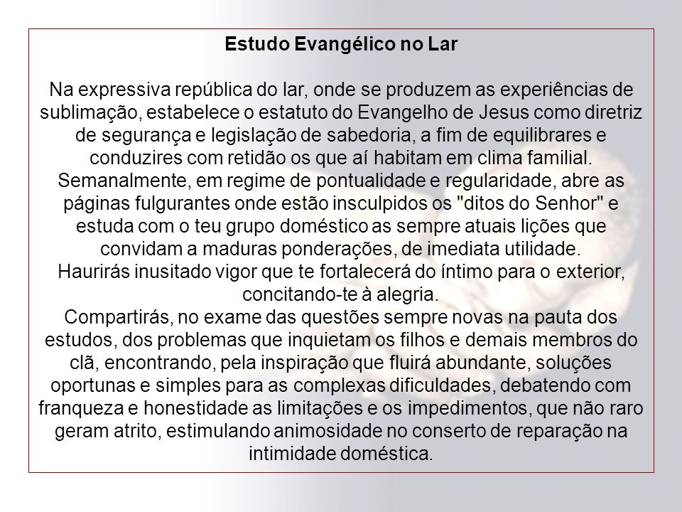 Estudo Evangélico no Lar