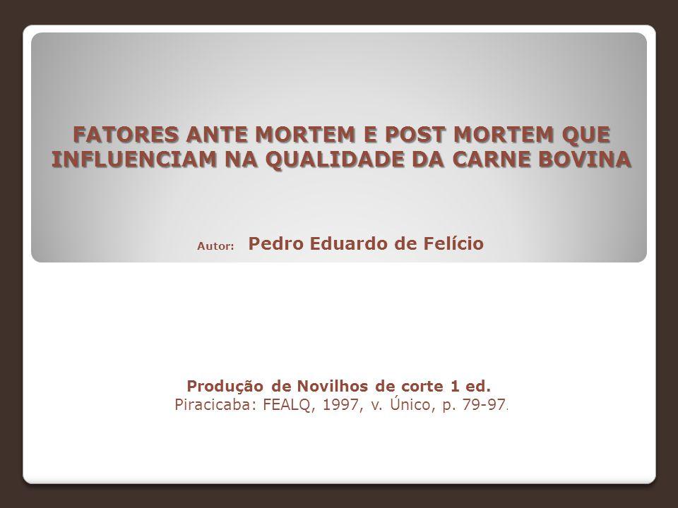 Autor: Pedro Eduardo de Felício
