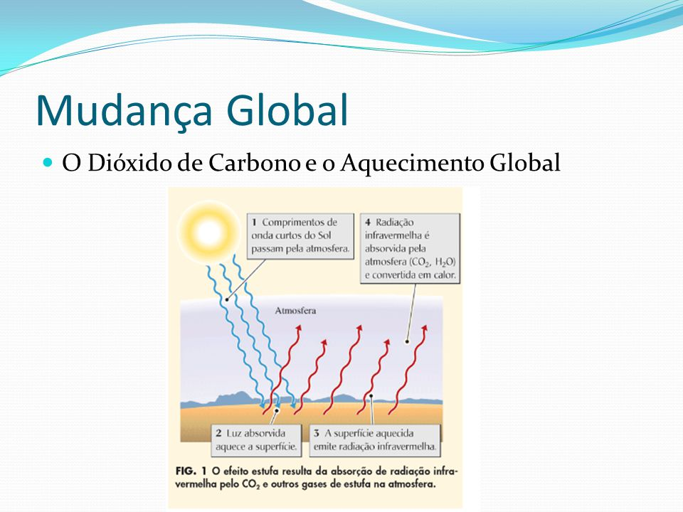 Mudança Global O Dióxido de Carbono e o Aquecimento Global