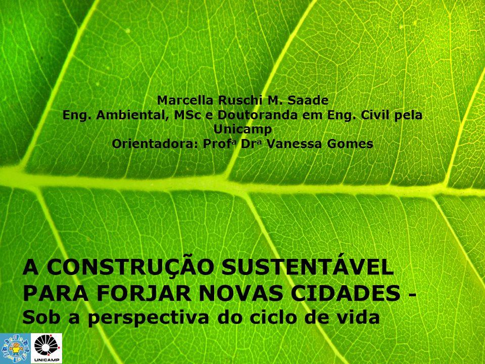 A CONSTRUÇÃO SUSTENTÁVEL PARA FORJAR NOVAS CIDADES -