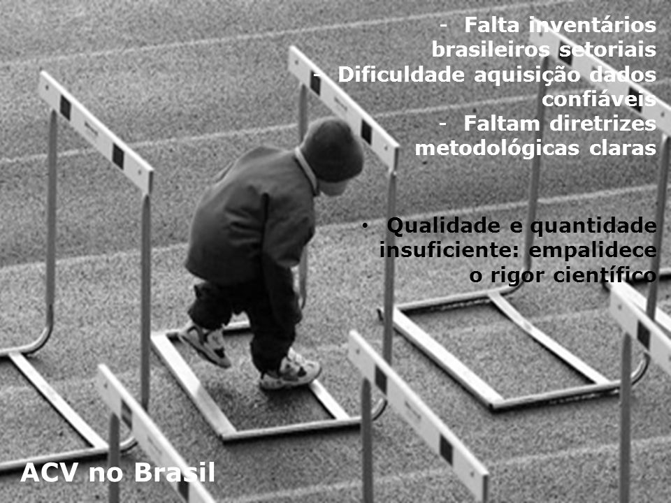 ACV no Brasil Falta inventários brasileiros setoriais