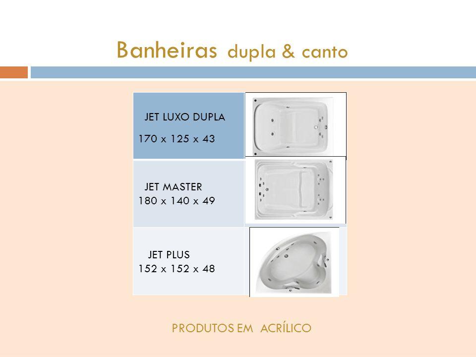 Banheiras dupla & canto