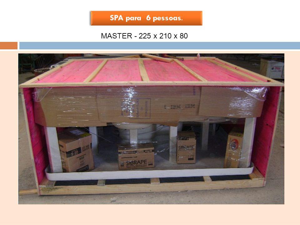 SPA para 6 pessoas. MASTER - 225 x 210 x 80 PRODUTO EM ACRÍLICO