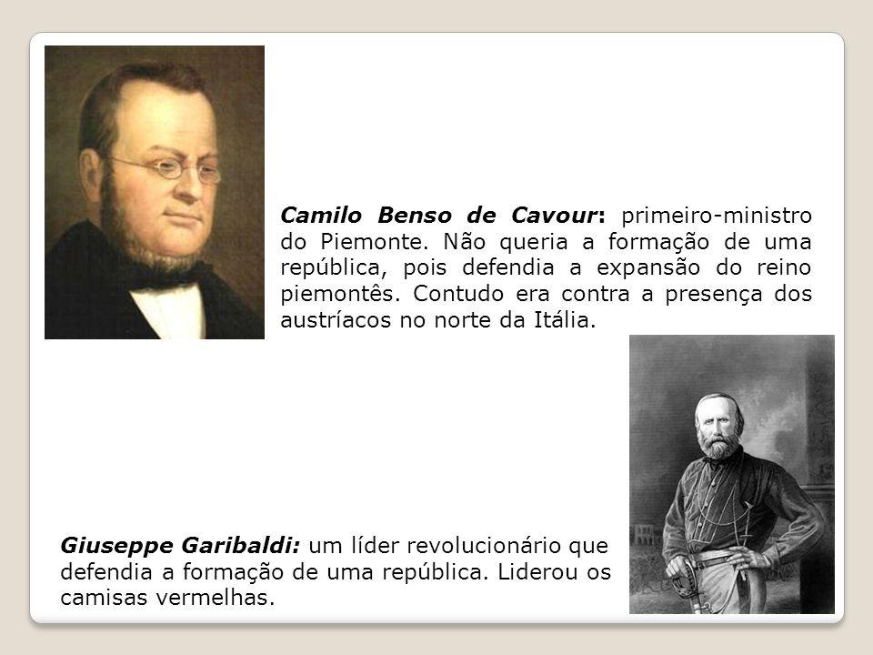 Camilo Benso de Cavour: primeiro-ministro do Piemonte