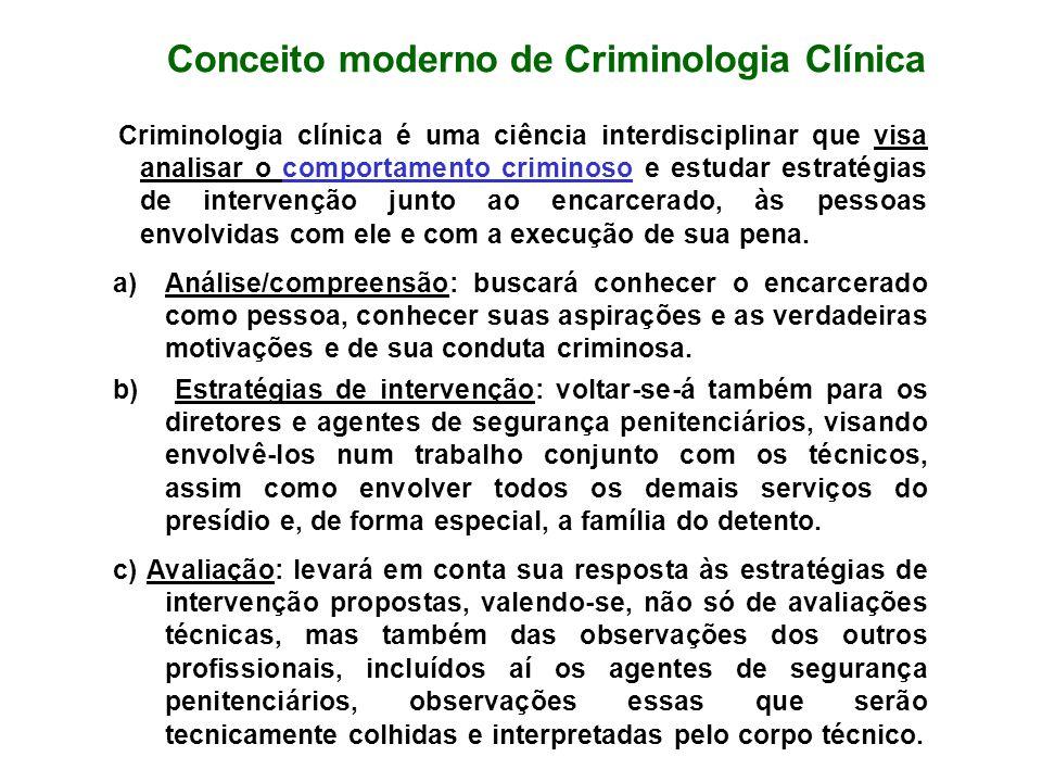 Conceito moderno de Criminologia Clínica