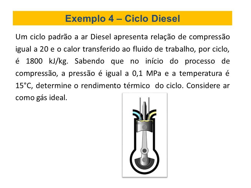 Exemplo 4 – Ciclo Diesel