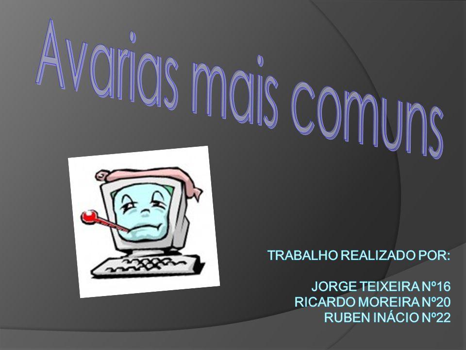 Avarias mais comuns Trabalho Realizado Por: Jorge Teixeira Nº16 Ricardo Moreira Nº20 Ruben Inácio Nº22.